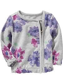 Floral Terry-Fleece Jackets for Baby,Old navy Toddler Girl Outfits, Toddler Fashion, Kids Outfits, Kids Fashion, Toddler Girls, Cute Jackets, Fleece Jackets, Newborn Boy Clothes, Baby Sewing
