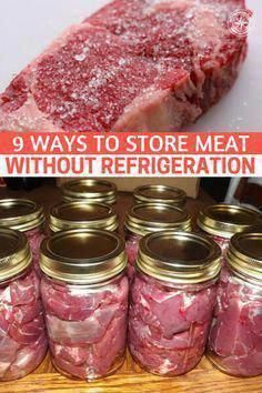 9 Ways to Store Meat Without Refrigeration - This article serves as an introduction to off-grid meat Emergency Preparation, Emergency Food, Survival Food, Survival Prepping, Survival Skills, Wilderness Survival, Homestead Survival, Prepper Food, Emergency Preparedness