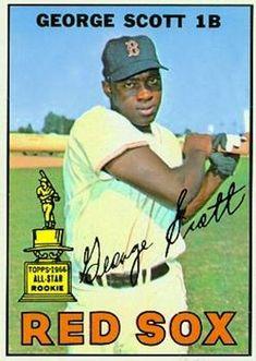 b1d768b9c9328 1967 Red Sox Topps · 75 - George Scott - Boston Red Sox Baseball Photos