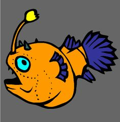 football fish coloring page