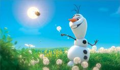 "Olaf during his song, ""In Summer"" #disneyfrozen #disneyfrozenolaf"