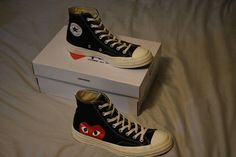 CDG Converse. Converse CDG Converse Size 9 - Hi-Top Sneakers for Sale -  Grailed ac801ee60