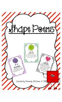 Shape Poems- Teaching shapes through . Preschool Colors, Preschool Songs, Preschool Lesson Plans, Preschool Themes, Kindergarten Classroom, Classroom Ideas, Shape Songs, Songs For Toddlers, Teaching Shapes