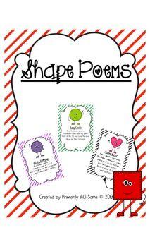 Shape Poem Posters