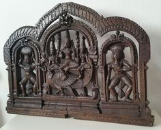 Auctioned off through #Catawiki: Carved panel  of Shiva's son- India - mid 19th Century