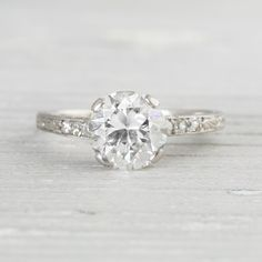1.55 Carat Vintage Art Deco Engagement Ring | Vintage & Antique Engagement Rings | Erstwhile Jewelry Co NY
