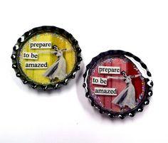 Bottle cap magnets - Resin Crafts