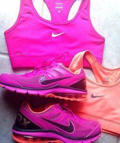 Gym outfit fuchsia and orange