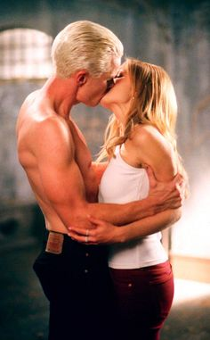 Buffy and Spike, Buffy the Vampire Slayer from The 50 Greatest TV Couples Ever  They may have been the definition of dysfunctional, but Spuffy had a bond (and an affect on each other) that can't be beat.