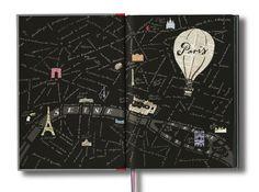 Jason Brooks' Paris Sketchbook end papers ♥ Loved by www.miekinvorm.nl || illustration, handlettering + design