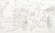 Daniel Libeskind, Micromegas: The Architecture of End Space. 1. The Garden 1978, Sceenprint on paper