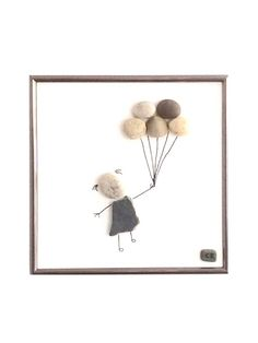 """Kunst Bild, """"Das Ballonmädchen"""", art image picture, craft """"The Girl with the balloons"""""""