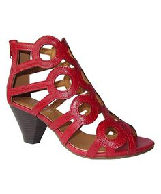 Look at this #zulilyfind! Red Cutout Sandal by NY VIP #zulilyfinds