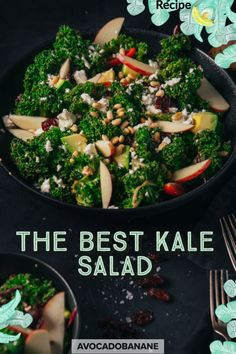 The BEST Kale Salad - AvocadoBanane English Recipes, English Food, Veggie Food, Veggie Recipes, Personal Recipe, Red Cabbage, Kale Salad, Seaweed Salad, Cherry Tomatoes