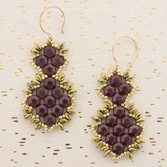 These Elegant Earrings may look complicated and difficult, but they really aren't! They would be a great finishing touch to your holiday outfit. FusionBeads.com