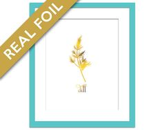 Dill Art Print - Gold Foil Print - Food Poster - Gold Foil Kitchen Wall Art - Food Art - Kitchen Art Print - Gift for Chef - Herb Art