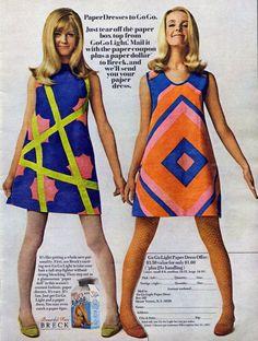 Forget Paper Dolls:  Breck & Paper Dresses, 1967.