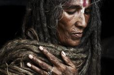 Photographer - Joey L. 00122248 -   Sabrida Shing. One Of The Few Rare Women To Take On The The Task Of Becoming A Sadhu. She Has Not Cut Her Hair Since Her Husband Died, Making The Ends Of The Dreadlocks Over 10 Years Old. Kathmandu, Nepal.