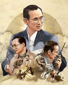 Our Beloved King King Rama 10, King Phumipol, King Of Kings, King Queen, King Bhumibol Drawing, King Thailand, Thailand Art, Modern World History, King Painting