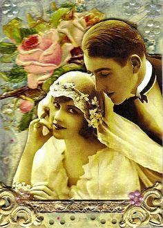 Mima's Vintage Bride and Groom .. LuAnne B