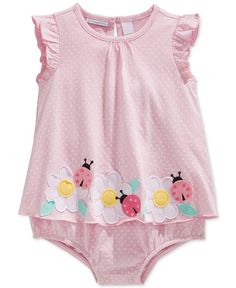 First Impressions Baby Girls' Ladybug Sunsuit, Only at Macy's