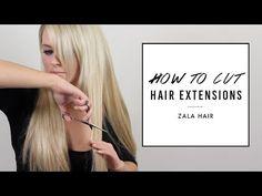 how to cut trim hair extensions yourself instant beauty how to cut hair extensions to blend zala hair youtube solutioingenieria Choice Image