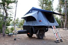 Roof Top Tent on a Jeep Style Fiberglass Trailer Tub Kit