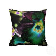 Solarized Hibiscus throw pillow