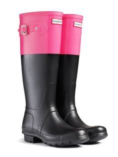 Original Colorblock Rain Boots | Hunter Boot Ltd Yes, I already have one pair of expensive rain boots.  But I wear them A LOT.  So... I can have more, right???