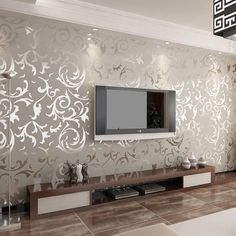 Genuine victorian glitter wallpaper silver background wall wallpaper pvc roll wall papers home decor for living room & bedroom Living Room Bedroom, Living Room Decor, Bedroom Decor, Wallpaper For Living Room, Tv Unit For Living Room, Bedroom Artwork, Design Bedroom, Wall Decor, Hall Colour