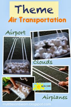 My Little Sonbeam: October Week 3 - Theme: air transportation. Airport strip landing out of masking tape. Airplanes. Mylittlesonbeam.blogspot.com Follow on Facebook Homeschool preschool learning activities and weekly lesson plans for ages 2-4