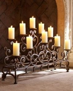 Fireplace Candles the secret to decorating a fireplace | romantic candles, backdrops