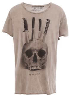Skull and knives #tshirt #design
