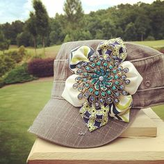 LOLO Grace designs Bling Cadet Women s Hat Recycled Fashion c44e15a5662e