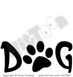 Free Word Art | Clipart Paw Print in the Word Dog - Royalty Free Vector Illustration ...