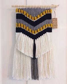 MADE TO ORDER - Hand Woven Wall Hanging with Chevron Detail