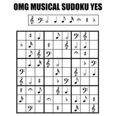 Musical sudoku.
