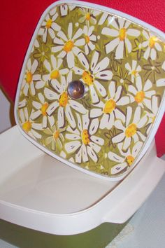 Groovy Floral Vintage Tupperware Style Storage Container. $10.95, via Etsy.