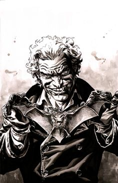 ART GIVEWAY London Super Comic Con 2015 - Lee Bermejo Joker Comic Art
