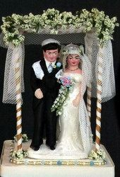 vintage jewish couple ~ Cake topper...love this!