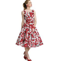 Butterick 5748. The neckline isn't right, but see other pin. Download: $4.99.  Lined dress has close-fitting bodice, flared skirt (Cut on crosswise grain of fabric), side zipper and very narrow hem. A: attached bows. Does not include petticoat pattern.
