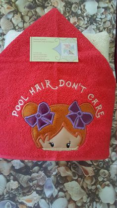 Pool Hair Childrens Hooded Towel by DeonnaKohnenhandmade on Etsy