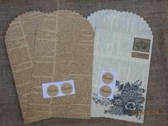Vintage style gift wrap set.  gift bags with by Pearlypantscrafts, £6.00