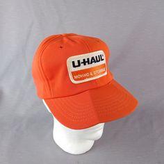 Vtg U Haul Moving Orange Mesh Back Snap Back Trucker Hat Embrdr Patch Made  USA   e578a5161c2d