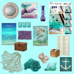 """Addie's Mermaid Room!"" by calliecrenshaw on Polyvore"