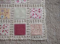 Patchwork Quilt Crochet Free Pattern High Tea Fusion Quilt Yarn Of Crochet - Diy Crafts Crochet Afghans, Crochet Quilt Pattern, Crochet Fabric, Crochet Motifs, Crochet Borders, Crochet Squares, Crochet Crafts, Crochet Projects, Free Crochet