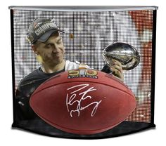 PEYTON MANNING Autographed Official Super Bowl 50 Football w/ Custom Designed Curve Display STEINER - Game Day Legends