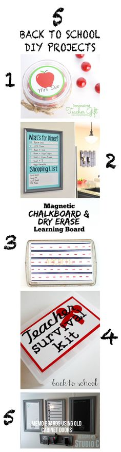 5 Back To School DIY Projects for getting back into the groove this season.