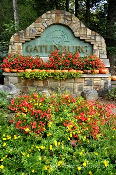 Gatlinburg is beautiful in the Summer with flowers all in bloom!
