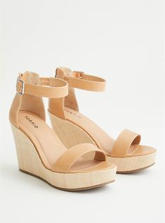 Wide Dress Shoes, Wide Shoes, Open Toe Shoes, Nude Wedges, Wide Width Shoes, Cute Sandals, Kinds Of Shoes, Long Toes, Me Too Shoes